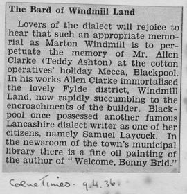 """The Bard of Windmill Land"""