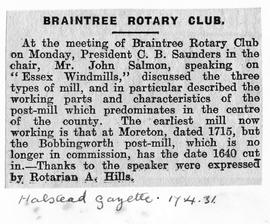 """Braintree Rotary Club"""