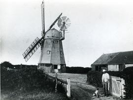 Great Wilbraham Smock Mill, Cambridgeshire, with sails and fantail