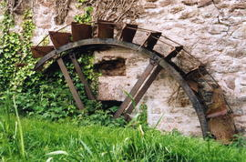 Sampford Brett Mill - undershot waterwheel by Chidgey, Watchet
