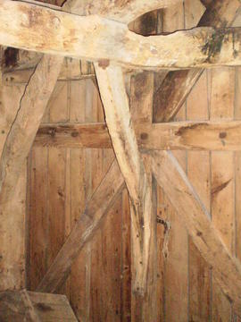 Dust floor framing, Impington Mill, Histon and Impington