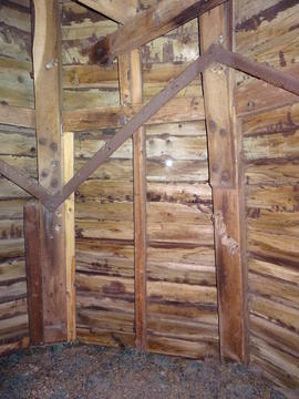 Detail of dust floor framing, smock mill, Crowfield