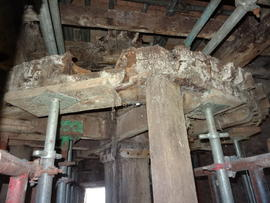Upright shaft and great spur wheel, Sneath's Mill, Lutton Gowts