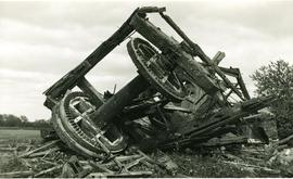 Kirkby Green Mill, collapsed, debris and wheels