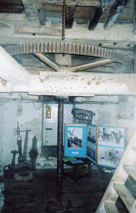 Upright shaft support frame and column, Impington Mill, Histon and Impington