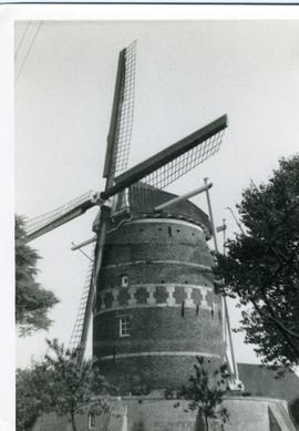Preserved tower mill at Gronsveld, south Holland, 1973