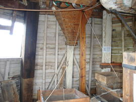 Stone floor framing, Upminster Windmill, Upminster