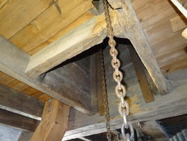 """Chimney"" for sack hoist chains, Heckington Windmill, Heckington"