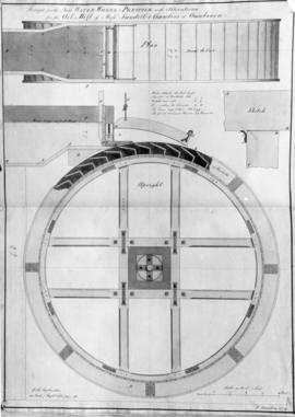 Design for the New Water Wheel and Penstock with Alterations for the Oil Mill of Mssrs Sandell &a...