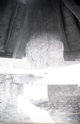 Interior of base of Pitstone Windmill, Pitstone