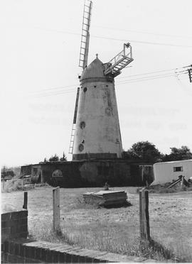 Stone Cross Tower Mill, Stone Cross, two false sails, remains of fantail, rear
