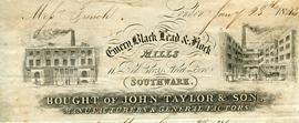 Billhead receipt of John Taylor and Son, Southwark