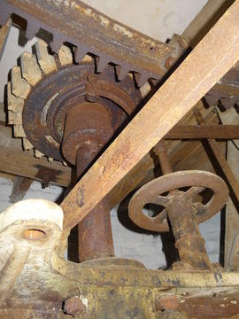 Stone nut and tentering gear, tower mill, Old Buckenham