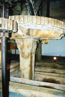 Bishop's Lydeard Mill wooden great spur gear