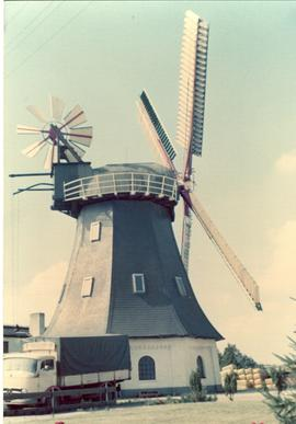 Preserved smock mill (converted to an inn, I think) at unidentified location in Schleswig-Holstei...