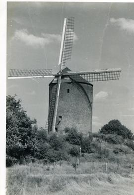Preserved tower mill at Zeddam, Holland, 1971