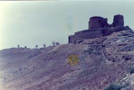 Preserved tower mills at La Mancha, Spain, summer 1975