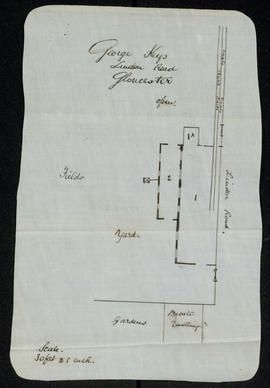 Report and plan, George Keys saw mill, Gloucester p. 1