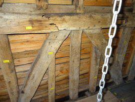 Detail of spout floor framing, Brill Windmill, Brill