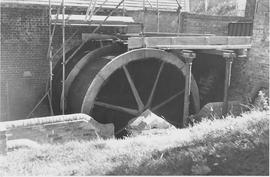 Ifield Mill, Ifield, wheel during restoration