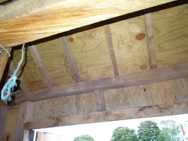 Framing of extension roof, post mill, Chinnor