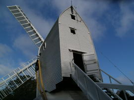 Oldland Windmill, Keymer, Sussex, being prepared ready to use the belt drive