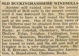 """Old Buckinghamshire Windmills"""