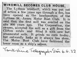 """Windmill becomes a Club House"""