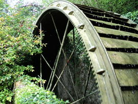 Water wheel at Hewish Farm, Milton Abbas, Dorset