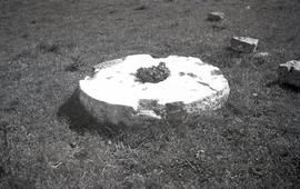 """Ashcombe, Sussex: Millstone on windmill site"""