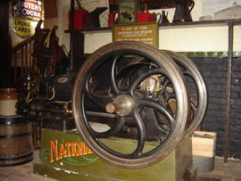 Gas engine, smock mill, Sarre