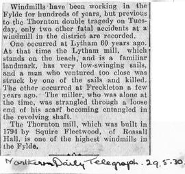 """Windmills have been working in the Fylde for hundreds of years"""