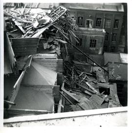 Bomb damage sustained by Cranfield's Mill during World War II