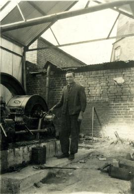 Chesterton Mill, Eddie French in the engine house