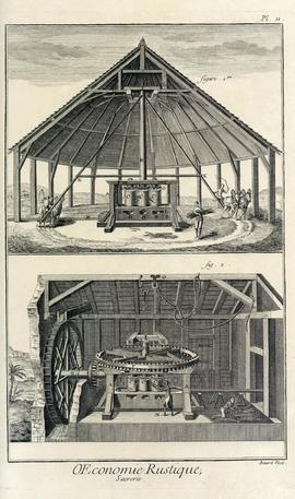 Horse powered sugar mill