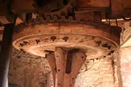 Sampford Brett Mill - crown wheel with evidence for older cogs on underside