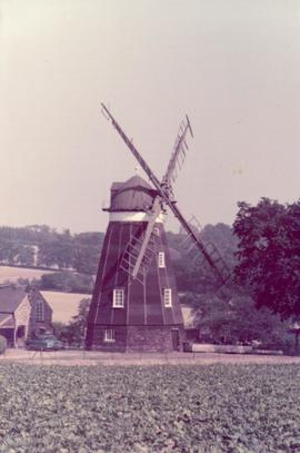 Exterior view, smock mill, Dalham, Suffolk