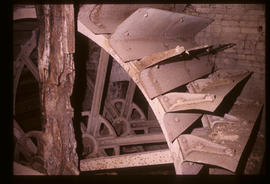 Bromham Mill, Bedford, Bedfordshire, detail of waterwheel