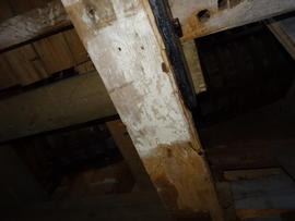 Ceiling of spout floor, Argos Hill Mill, Mayfield