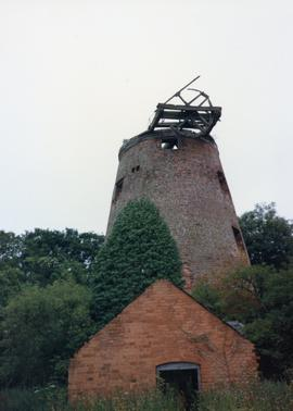 Derelict tower mill (oil mill), Weston-under-Redcastle, Shropshire