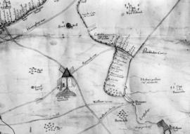Old map of Woodbastwick
