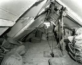 Woodbridge Tide Mill, Suffolk, sacks stored in roof
