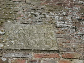 1779 datestone, Sneath's Mill, Lutton Gowts