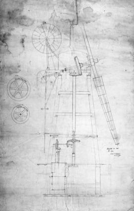 Section drawing of a wind mill by Daniel England