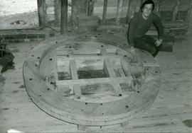 Completed Woodwork of Brakewheel, tower mill, Thelnetham
