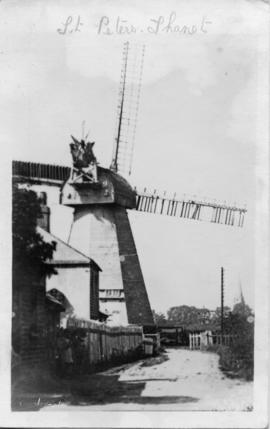 Fiveash Mill, Northfleet, with damaged shutters