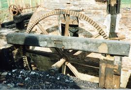 Remnants of pit wheel, watermill, Great Bardfield