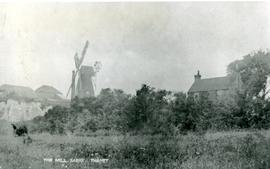 Smock mill, Sarre, and houses