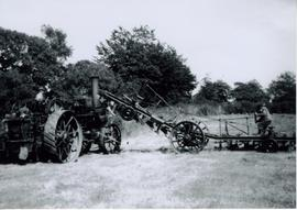 Traction engine FN 5020 and plough at work