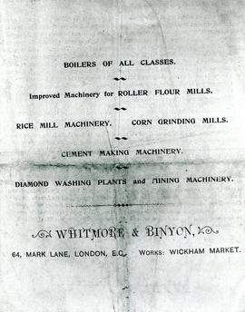 Boilers and Machinery Advertisement